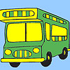 Vacation bus coloring jeu