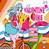 Jeu de vélo de Valentine jeu