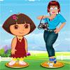 Zoé avec Dora Dress Up jeu